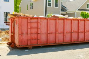 red dumpster for rent